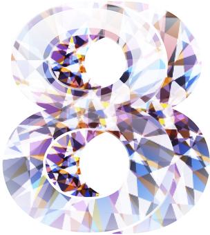 다이아몬드 숫자 8