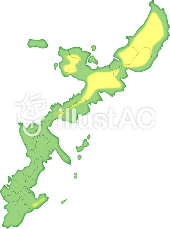 沖縄地図イラスト No 170245無料イラストならイラストac