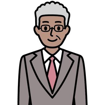 A black man wearing a suit (international)