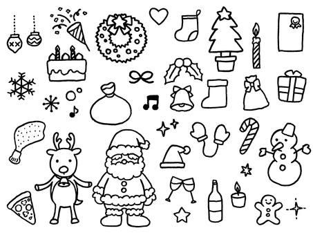 クリスマス(線画)