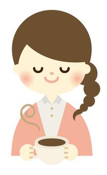 A coffee break girl