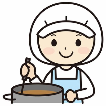 Smiling female cook