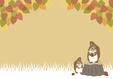Autumn's horizontal background material 3