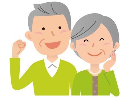 51118. Senior couple, guts