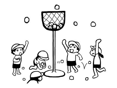 運動一天球