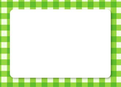 緑チェックフレーム