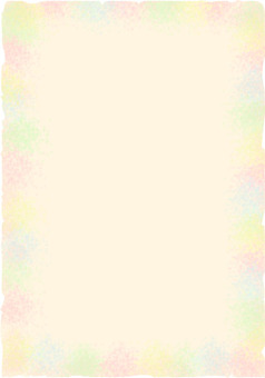 Rainbow-colored background frame