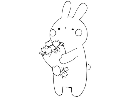 Usagi and bouquet 1 of 1
