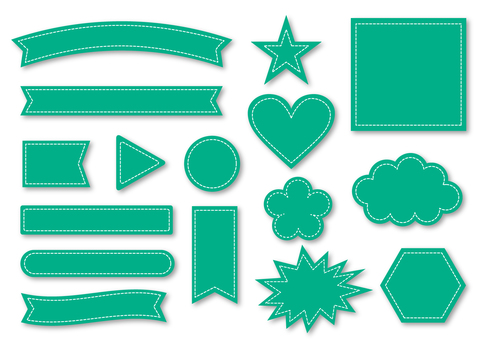 Title Ribbon collection _ Green