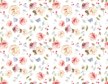 Background 4 - Classic roses and small flower background