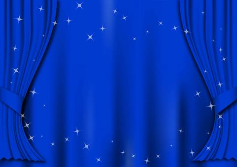 Curtain illustration (blue)