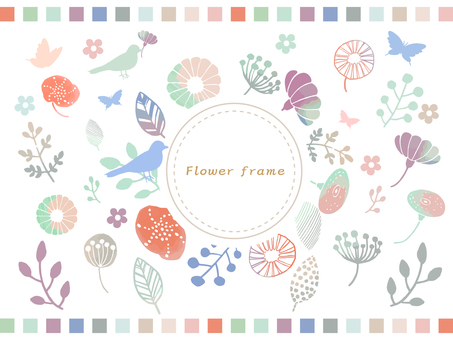 Wild flowers hand painted frame