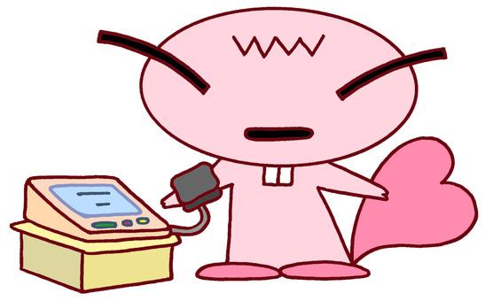Beaver character · blood pressure measurement