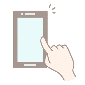 Finger operating a smartphone