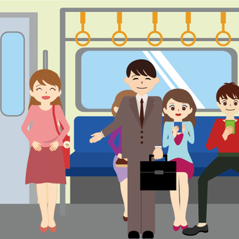 Train (where we give seats to pregnant women)