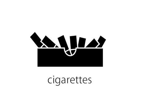 Cigarette and ashtray
