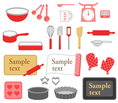 Sweets making tool set