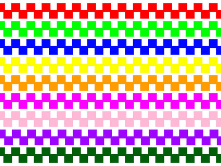 Line colorful block
