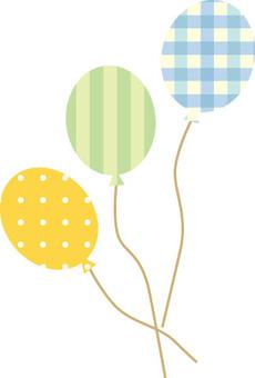Cute balloon blue series