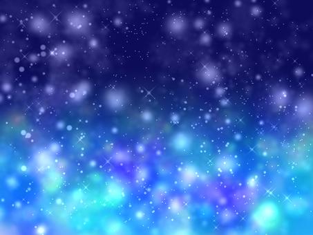 青色宇宙風シャイニー壁紙