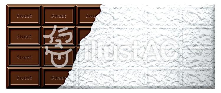 fe4f3875d4 板チョコ_銀紙つきイラスト - No: 248066/無料イラストなら「イラストAC」