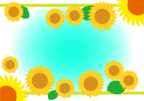 Sunflower frame 2 A4