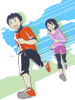 Running male and female 1