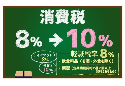 Consumption tax / blackboard-1