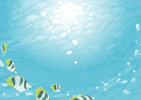 Tropical underwater illustration