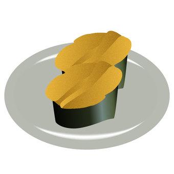 Sushi sea urchin