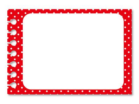 Red polka dots frame