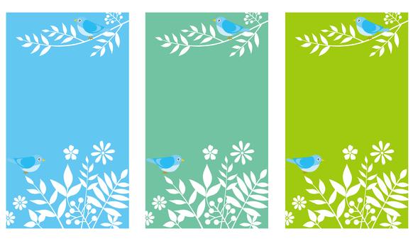 꽃과 새들의 배경