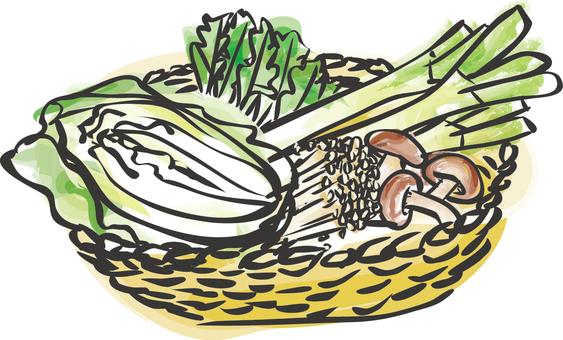 Food _ pot hot vegetables