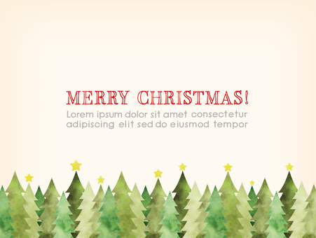Watercolor touch Christmas card A