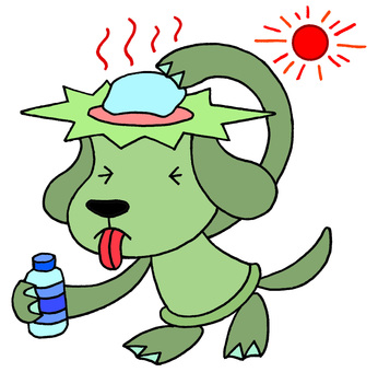 Dog character · heat stroke