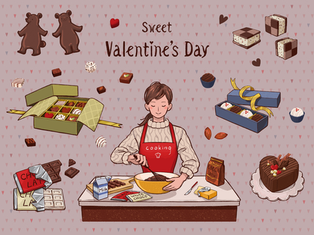 Valentine's Day Material Set Cooking 01