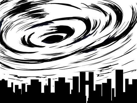 태풍 흑백