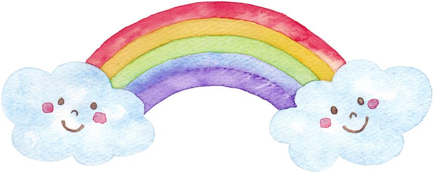With a rainbow face