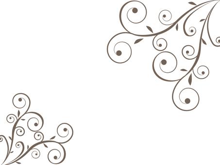 Frame - Vine grass / Swirls