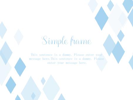 다이아몬드 프레임 01 / 파랑