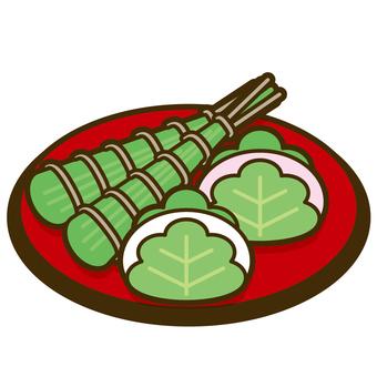 Kashiwa cake · chimaki