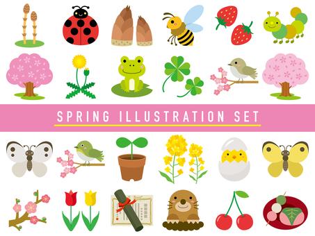 Spring illustration set-01