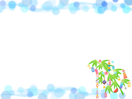 Tanabata decorative frame