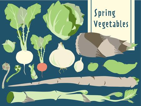 야채 12 봄 야채 세트