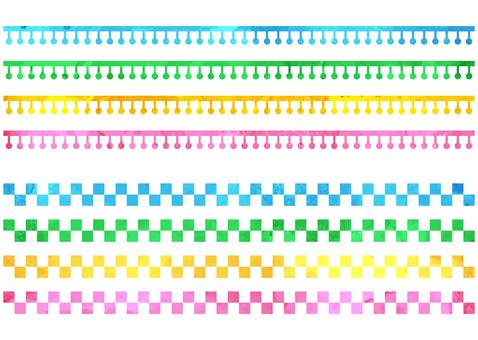 귀여운 수채화 풍의 테두리 -2