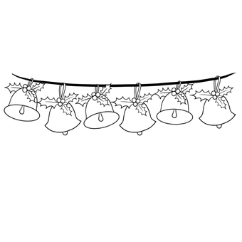Christmas Bell line drawing
