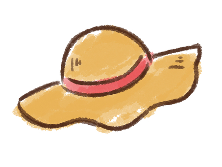 Crayon series [Straw hat]