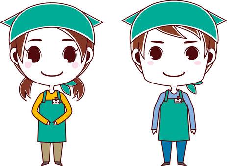 Apron clerk_men and women 01