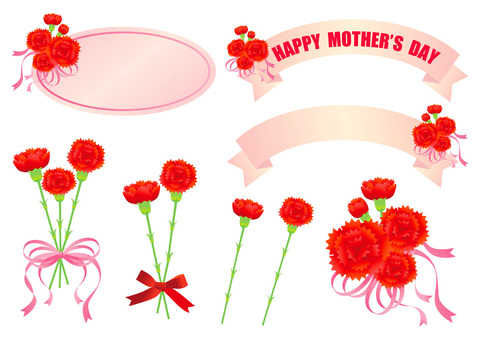 Anneler Günü Çeşitli İllüstrasyonlar