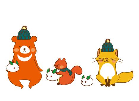 겨울의 동물들